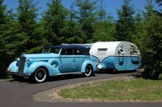 Vintage Camping in Style Old Campers, Vintage Campers Trailers, Vintage Caravans, Camper Trailers, Retro Campers, T1 Bus, Vw T1, Rat Rods, Airstream