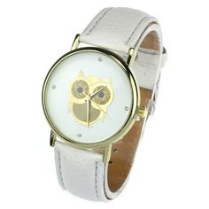 Best price on Fashion Cartoon Owl Style Dress Gold Watch //    Price: $ 11.90  & Free Shipping Worldwide //    See details here: http://mrowlie.com/product/fashion-cartoon-owl-style-dress-gold-watch/ //    #owl #owlnecklaces #owljewelry #owlwallstickers #owlstickers #owltoys #toys #owlcostumes #owlphone #phonecase #womanclothing #mensclothing #earrings #owlwatches #mrowlie #owlporcelain
