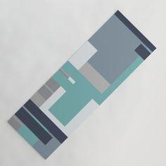 Abstract Geometric Print Yoga Mat by chaploart | Society6