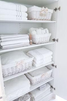 Freestanding cabinet for craft linen storage organize - Freestanding bathroom linen closet ...