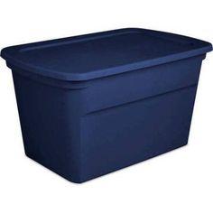 Sterilite 30-Gallon Extra Large Storage Organizer Tote Bin, Case of 6