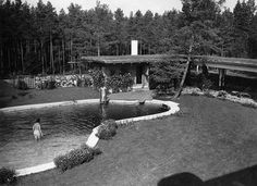 Villa Mairea, by Alvar Aalto 1939 Alvar Aalto, Helsinki, Finland, Swimming Pools, Golf Courses, Arch, Villa, Modernism, Country