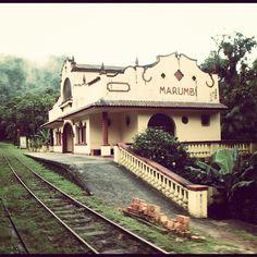 Estação de trem Marumbi, linha Curitiba-Paranaguá, PR. Inaugurada em 1885.