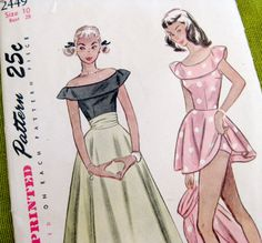 1940's Simplicity 2449 Vintage Sewing Pattern by SelvedgeShop, $14.00