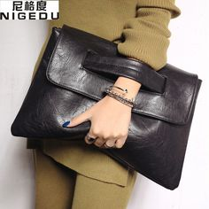 Fashion women's envelope clutch bag High quality Crossbody Bags for women trend handbag messenger bag large Ladies Clutches(China (Mainland)) Más Fashion Mode, Fashion Bags, Ladies Fashion, Leather Clutch, Leather Handbags, Pu Leather, Leather Bags, Vintage Leather, Vegan Leather