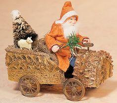 Santa , in his loofah car.