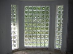 Wood door with glass block windows i have always loved - Interior storm windows for old houses ...