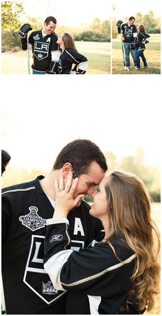 yes!, Adorable hockey+engagement photos totally captured us in the perfect photos