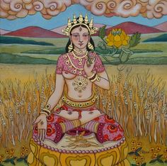 White Tara with Autumn Gold
