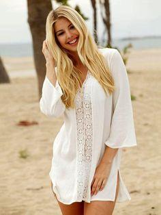 da6bc369d6a31 Fashion Hollow Bandage Cover-ups Swimwear – chicbohodress Cotton Crochet,  Cotton Lace, Crochet