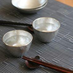 NOUSAKU Tin 100% Guinomi Choko (Sake cup) (78ml x 2pcs)