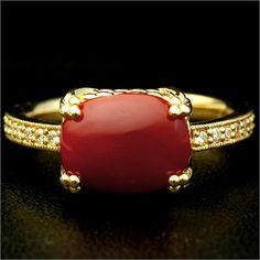 「時を越える美」血赤珊瑚×ダイヤモンドリング
