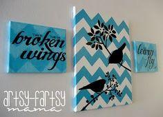 Blackbird Chevron Canvas
