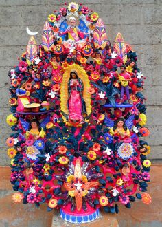 Huge Amazing Soteno Tree of Life by Moises Soteno Our Lady of Guadalupe   eBay