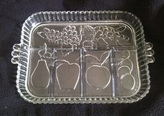 Vintage Indiana Glass Crystal 5 Part Fruit by OrangeyDukiesFinds