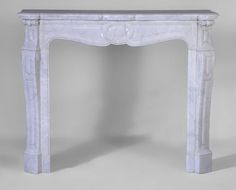 Antique Louis XV style fireplace, Pompadour model, in white Carrara marble #fireplace #mantel #pompadour #louis15 #style #frenchstyle #decor #interiordecoration #design #french