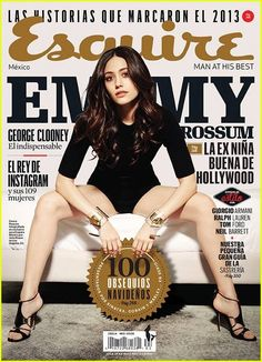 Emmy Rossum poses for the January 2014 cover of  'Esquire Mexico' magazine