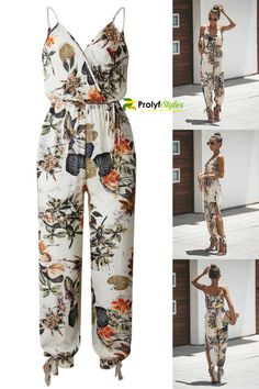 Your impeccable style sense is in full bloom when you don our Floral Jumpsuit. This cute one-piece outfit is easy to dress up or down. Wear this classy jumpsuit for casual wear, work, beach, poolside, concert, trip, party, date. Spaghetti Strap jumpsuit is a trendy outfit for women chic style street fashion. Casual floral print jumpsuits for women chic fashion style. trendy styles 2020, trendy fashion outfits, fall outfits 2020 #casualoutfits #casualstyles #casualwear #streetchic… Fall Fashion Outfits, Casual Fall Outfits, Casual Wear, Trendy Outfits, Trendy Fashion, Fashion Styles, Thanksgiving Fashion, Sexy Women, Women Wear