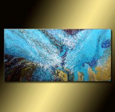 Sea Waves | Original LARGE ABSTRACT PAINTING | blue Painting | Contemporary Fluid Acrylic Art | Modern Canvas Art | Wall Art by karpikiotiArtGallery on Etsy