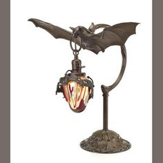 A bronze lamp in the form of a bat  Austrian, 20th century
