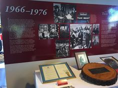 The new #CCAC Then & Now exhibit is officially up! This first panel shows #CCAC history from 1966-1976. #CCAC50