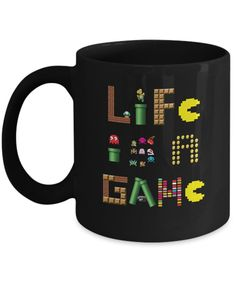 Life Is A Game Video Games Gamer Coffee Mug