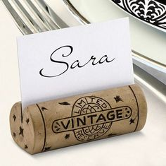 These Cork Place Card Holders are authentic looking wine cork place card holders - perfect for weddings or other large gatherings. The Got Cork Place Card Holder captures the essence of any wine lover                                                                                                                                                                                 More