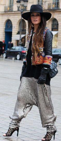 Those pants are D-O-P-E. Madame De Rosa Walk In ''Place Vendôme'' - Paris by Madame De Rosa