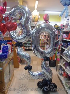 #dolcemania #palloncini #trenta #thirty #puglia #balloons #silver #gargano #foggia #idea #compleanno