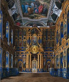 followthewestwind:  The Palace Chapel (Church of the Resurrection) at the Catherine Palace (via Pinterest)