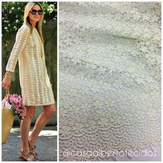 #casaalbertotecidos #casa #alberto #tecidos #cuiaba #inspiracao #guipure #vestido #renda #lace