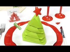 Comment plier ses serviettes de table pour Noël ?