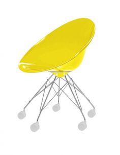 Eros à roulettes fauteuil | Fauteuil Kartell par Philippe Starck | Vente de mobilier design et décoration intérieure Philipe Starck avec Objects by