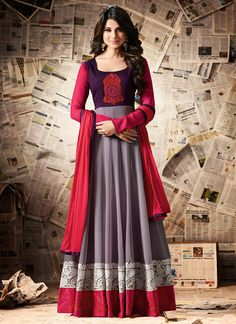 Buy Jennifer Winget Mauve N Purple Anarkali Suit online from the wide collection of anarkali-suit. This Purple | Mauve colored anarkali-suit in Faux Georgette | Art Silk fabric goes well with any occasion. Shop online Designer anarkali-suit from cbazaar at the lowest price.