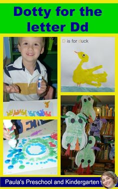 Crafts, activities and ideas for teaching the letter Dd to preschool and kindergarten kiddos.