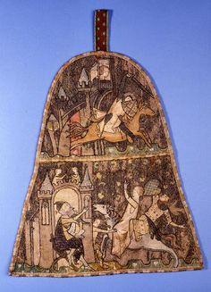 Purse. Paris, 1300-1410. 34.7 cm high x 29.7 cm wide.