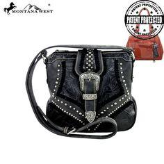 Montana West Concealed Carry Crossbody Bag Black Gun Pouch Purse Messenger Bag #MontanaWest #MessengerCrossBody