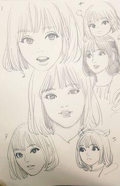 GFRIEND Eunha Fan Art Gfriend And Bts, Drawing Reference Poses, Kpop Fanart, Anime Art Girl, Art Tutorials, Art Inspo, Comic Art, Art Drawings, Sketches