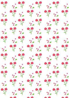 FREE printable floral pattern paper | rose pattern