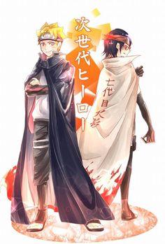 Boruto admires Sasuke Sarada admires Naruto
