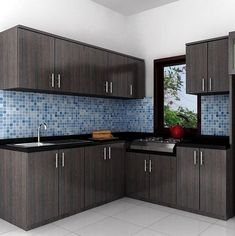 Show your avant-garde style through your minimalist kitchen. Its functional minimalist kitchen set come in varied materials and designs. Simple Kitchen Design, Kitchen Room Design, Home Decor Kitchen, Interior Design Kitchen, Home Kitchens, Kitchen Ideas, Interior Ideas, Small Kitchens, Kitchen Living