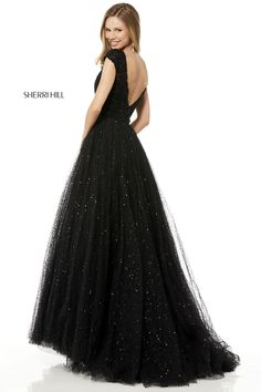Sherri Hill 52365 Beaded bodice with cap sleeves, low back and sequin tulle ball gown skirt. Mother Of The Bride Jackets, Mother Of The Bride Gown, Tulle Ball Gown, Ball Gowns, Cheap Dresses, Formal Dresses, Lounge Dresses, Formal Wear, Concert Dresses