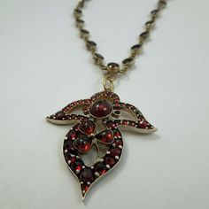 Antique Sterling Silver and Garnet Necklace. $650