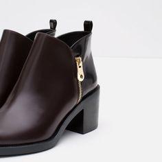 BOTÍN COMBINADO-Zapatos-MUJER   ZARA España