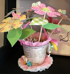 241 best peat pots and baskets images on pinterest in 2018 fall bazzills patterned paper makes a darling flower pot mightylinksfo