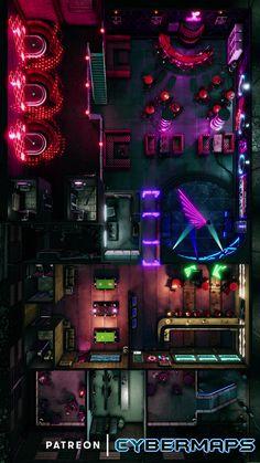 Rpg Cyberpunk, Cyberpunk Character, Droides Star Wars, Dnd World Map, Pen & Paper, Sci Fi Rpg, Rpg Map, Map Layout, Map Maker