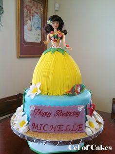 Hula Barbie's grass skirt is cake.