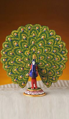 Showpieces Idols Hand Painted Peacock Decorative With Enamelling Costs Rs 613