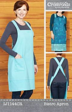 Bistro Apron Sewing Pattern From Indygo Junction for sale online Sewing Projects For Beginners, Sewing Tutorials, Sewing Hacks, Sewing Crafts, Sewing Patterns, Sewing Tips, Clothes Patterns, Apron Patterns, Costume Patterns