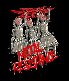 BabyMetal Metal Resistance T Shirt Band Tees For Men Women in your size. This product are available for men and women. Neo Grunge, Soft Grunge, Grunge Style, Tokyo Street Fashion, Heavy Metal Music, Heavy Metal Bands, Le Happy, Doc Martens, Grunge Outfits